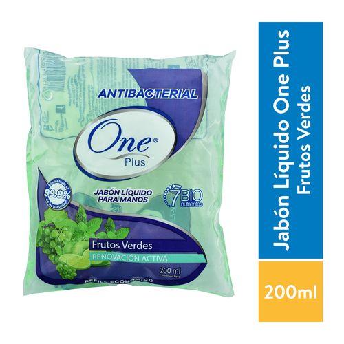 Jabón Líquido Oneplus Frutos Verdes Bolsa - 200ml