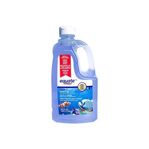 Jabon Equate Liquido Clear Repuesto - 1650 ml