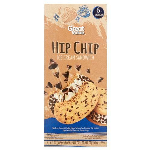 Helado Great Value Sandwich Chispas 6 Unidades - 118gr