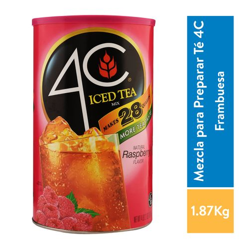 Bebida 4C En Polvo Iced Tea Mix Raspberry - 1870gr