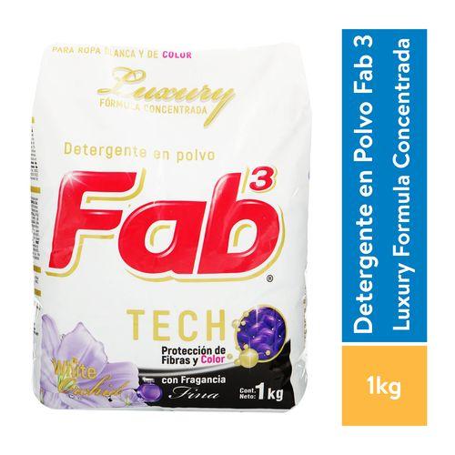Detergente Fab3 Luxury Blanco - 1000gr