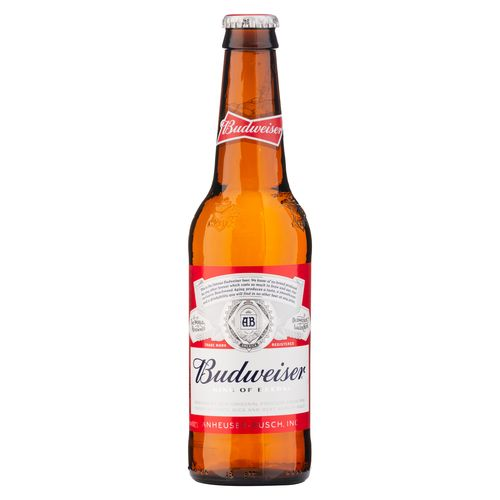 Cerveza Budweiser Botella 355 Ml