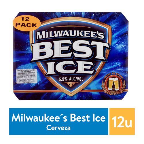 12 Pack Cerveza Milwaukees Best Ice Lata - 4260ml