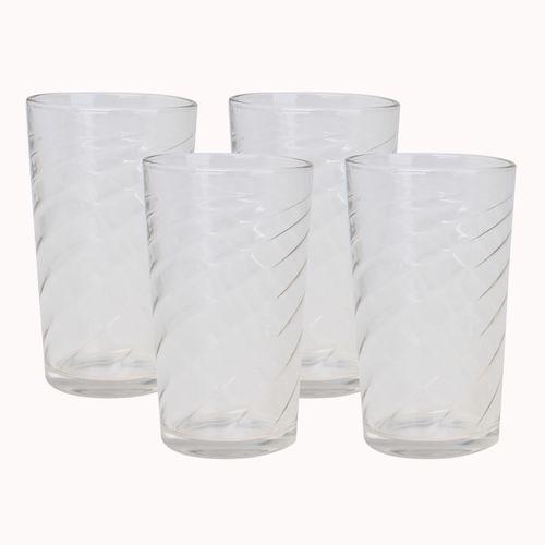 Set De 4 Vasos 14 Oz Espiral Mainstays