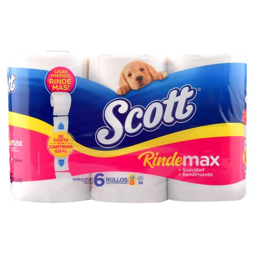 Papel Higiénico Scott  Rindemax Doble Hoja - 6 Rollos