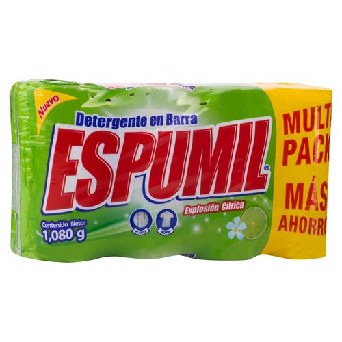 Detergente Barra Espumil Multpack - 1080gr