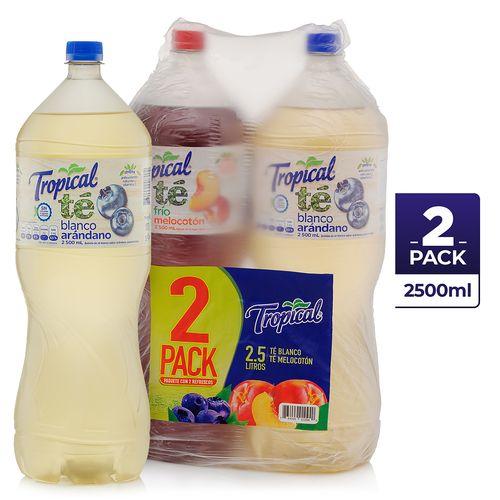 2 Pack Refresco Tropical Te Blaymel - 2500ml