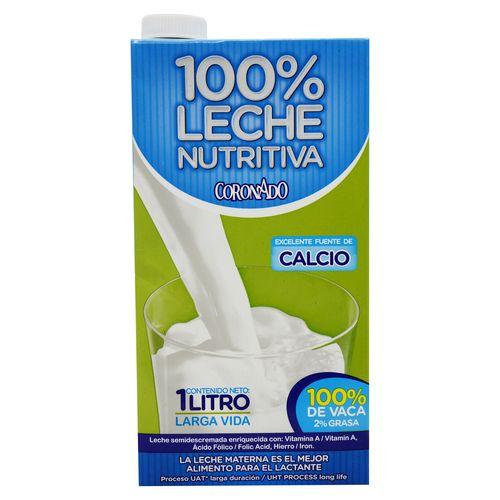 Leche Coronado 100 Nutritiva 2% Grasa - 1000Ml