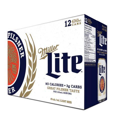 12 Pack Cerveza Miller Lite en lata - 4260ml