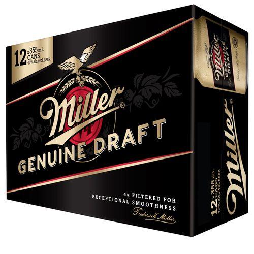 12 Pack Cerveza Miller Lata Genuin Draft - 4260ml