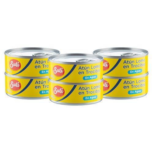 6 Pack Atun Trocitos En Agua - 600gr