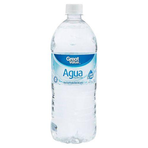 Agua Great Value Purificada - 1000 ml