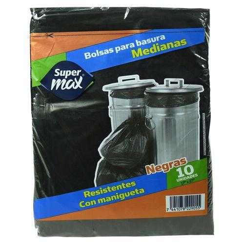 Bolsa Supermax B Gabacha Negra Med 10U