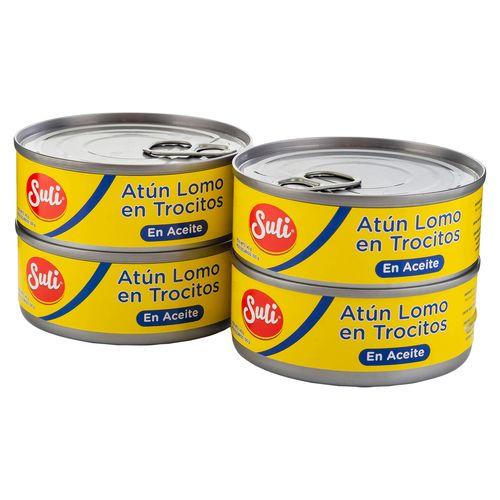 4 Pack Atun Suli Trocitos En Aceite - 400gr