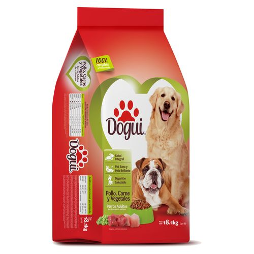 Alimen Para Perro  Dogui Adulto  Pollo Carne  Y Vegetales 18.1 Kilogramos