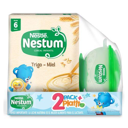 NESTUM® 2 Pack Trigo Miel 200g + Plato