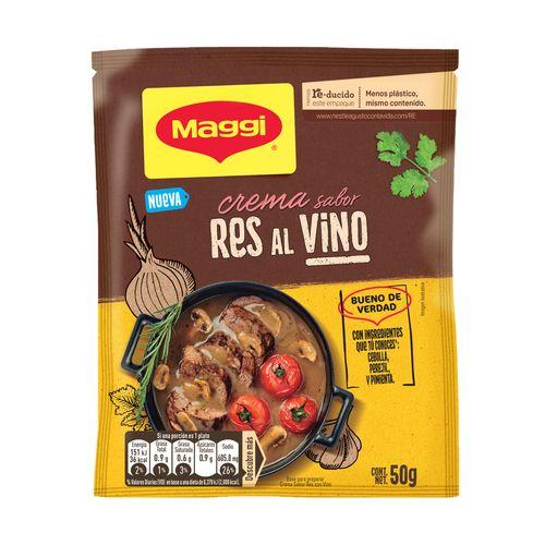Crema Maggi de Res al Vino sobre 50GR