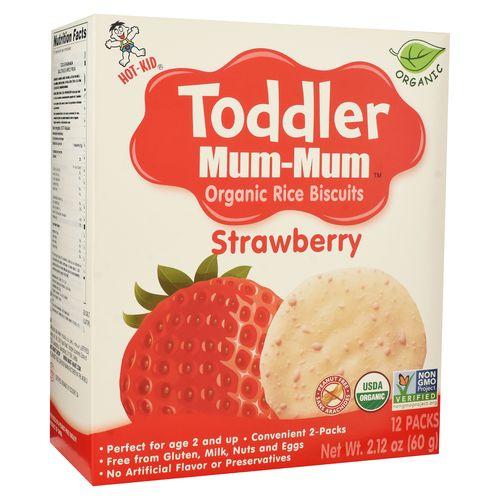 Galleta Arroz Toddler Baby Mum Mum Fresa - 60gr