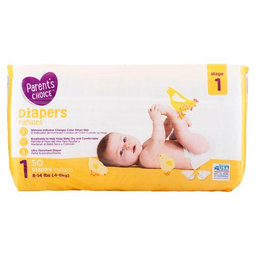 Pañal Parents Choice Baby Size 1 - 50 Unidades