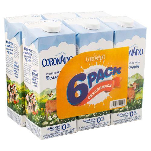 6 Pack Leche Coronado Descremada - 6000Ml